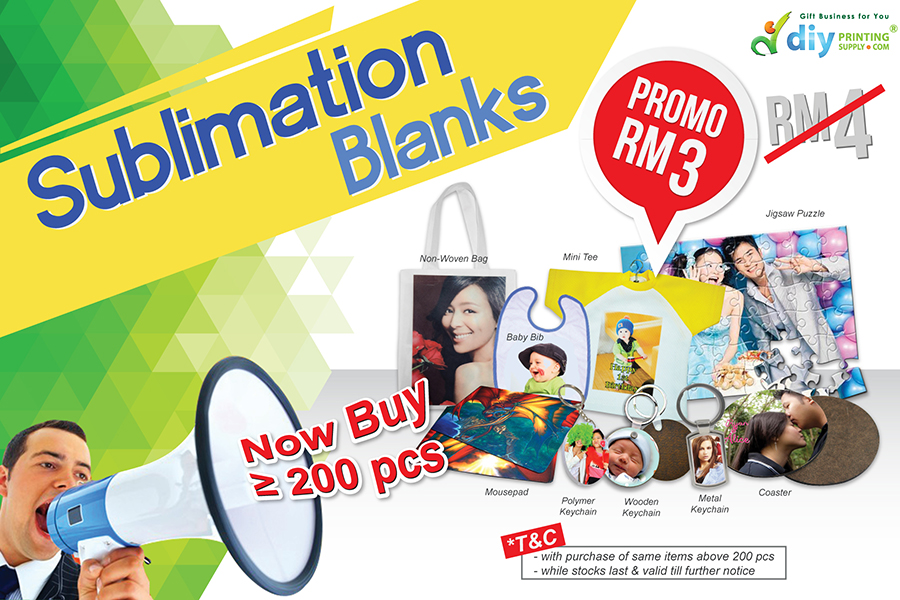 Sublimation Blanks - Year End Promotion in Malaysia