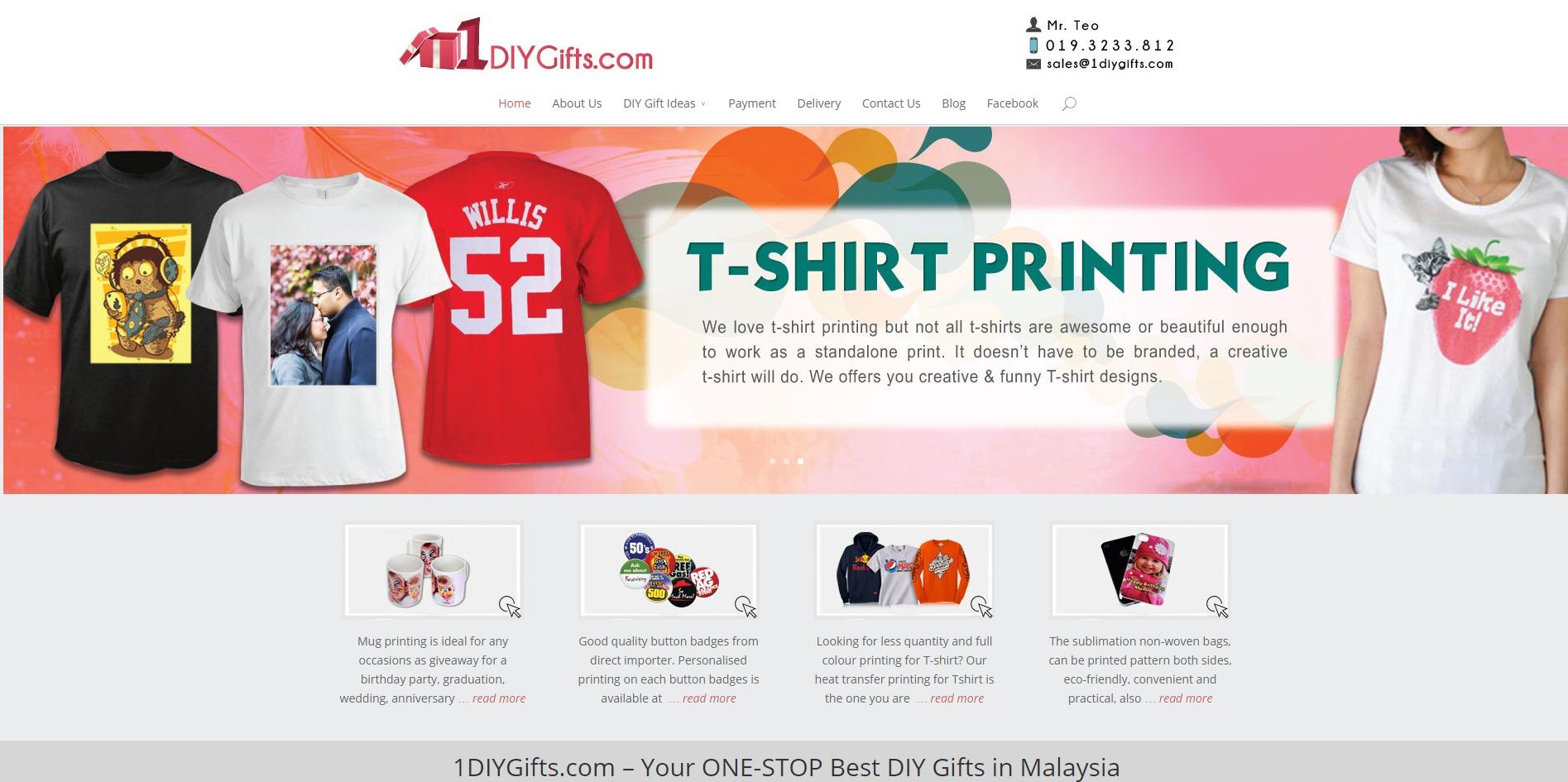 1diygifts.com - sample website for DIY members