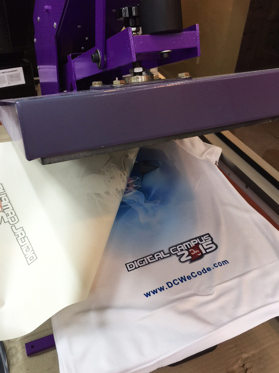 Sublimation Printing on Polyester Tshirt