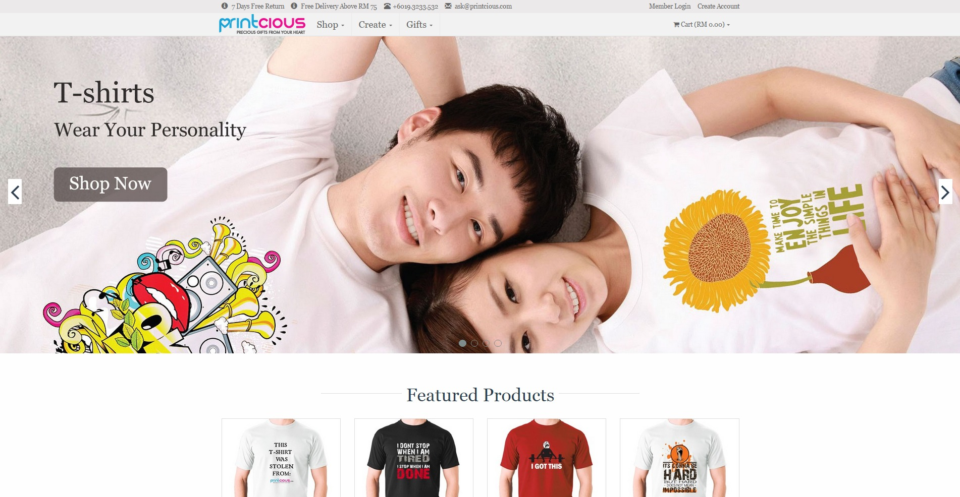 Printcious Com Online Diy Gift Printing Platform